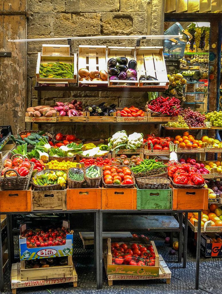 Italian produce market
